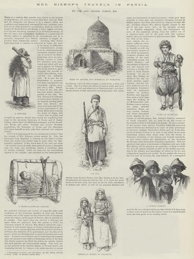 Mrs Bishop's Travels in Persia, by the Honourable George Curzon--Giclee Print