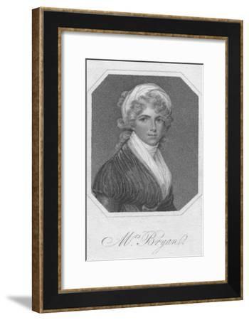 Mrs. Bryan, 1801- Mackenzie-Framed Giclee Print