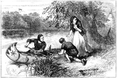Mrs Dunstan Escaping Down the Merrimac, Late 17th Century--Giclee Print