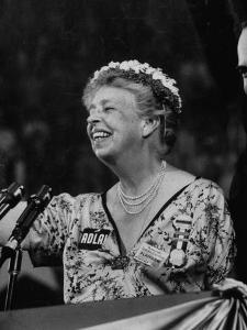 Mrs. Eleanor Roosevelt Speaking at the National Democratic Convention