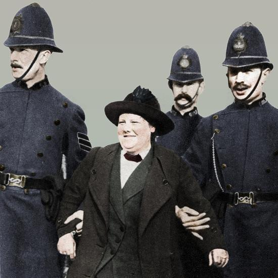 Mrs Flora Drummond, arrested in Hyde Park, London, 1914, (1935)-Unknown-Photographic Print
