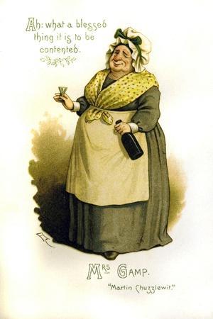 Mrs. Gamp Illustration--Framed Giclee Print