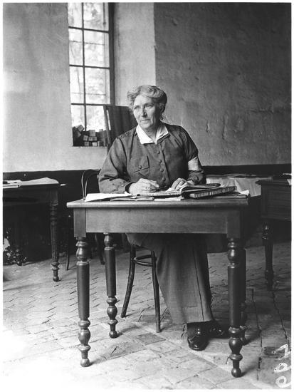 Mrs Harley (D.1917) at the Abbey of Royaumont, 1915-Jacques Moreau-Photographic Print
