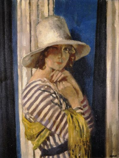 Mrs Hone in a Striped Dress-Sir William		 Orpen-Giclee Print