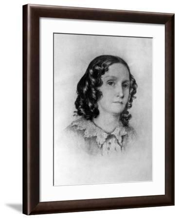 Mrs. Jenkin, from a Sketch Taken by Her Son at Genoa, 19th Century--Framed Giclee Print