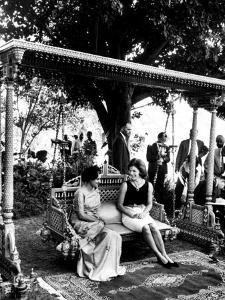 Mrs. John F. Kennedy with Mrs. Indira Gandhi During Her Visit to India