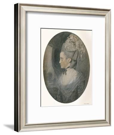 'Mrs. John Mortlock (Nee Harrison)', c1780-John Downman-Framed Giclee Print