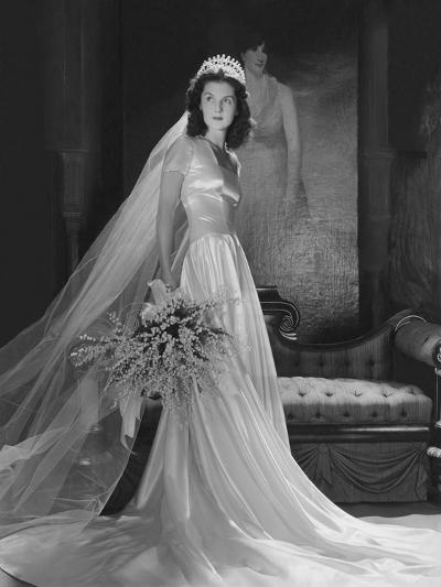 Mrs. John Simms Kelly (Brenda Frazier) in Wedding Gown--Premium Photographic Print