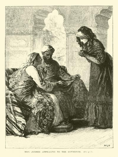 Mrs Judson Appealing to the Governor--Giclee Print