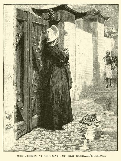 Mrs Judson at the Gate of Her Husband's Prison--Giclee Print