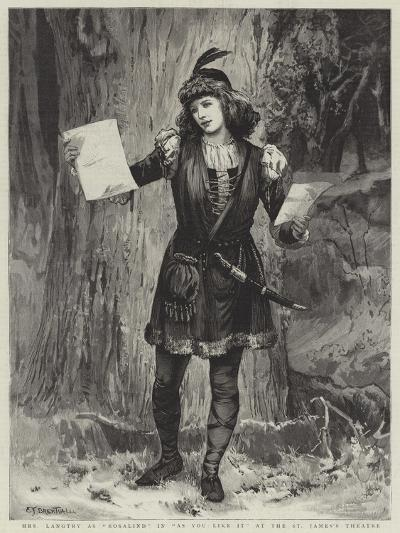 Mrs Langtry as Rosalind in As You Like It at the St James's Theatre-Edward Frederick Brewtnall-Giclee Print
