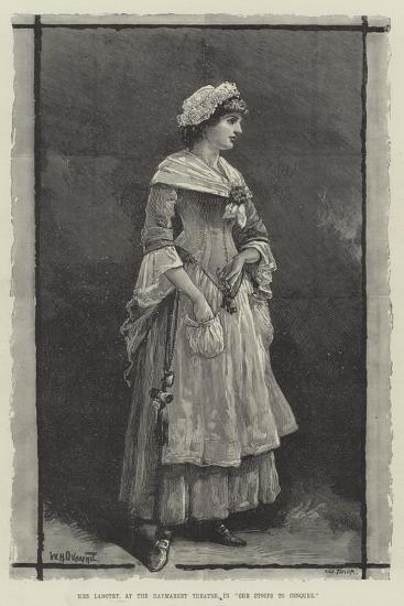 Mrs Langtry, at the Haymarket Theatre, in She Stoops to Conquer-William Heysham Overend-Giclee Print