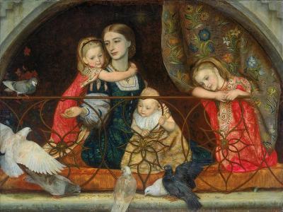Mrs Leathart and Her Three Children, C.1863-65-Arthur Hughes-Giclee Print