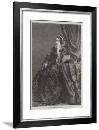 Mrs Lucy Anderson, the Eminent Pianist--Framed Giclee Print