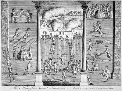 Mrs Midnight's Animal Comedians, 1753--Giclee Print