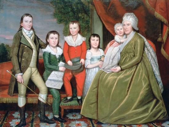 Mrs Noah Smith and Her Children, 1798-Ralph Earl-Giclee Print