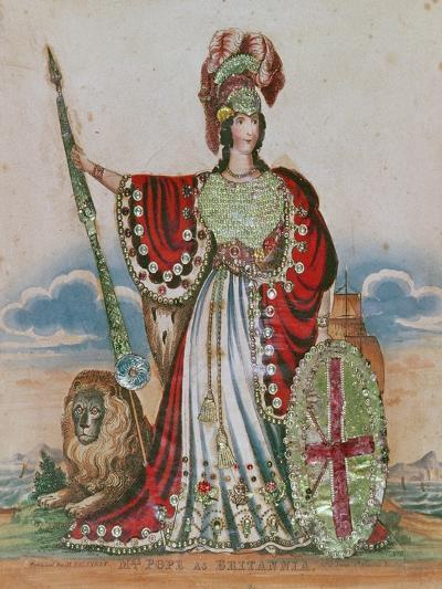 Mrs. Pope as Britannia--Giclee Print