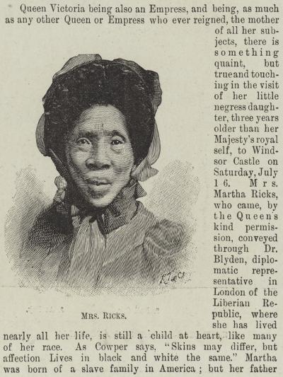 Mrs Ricks--Giclee Print