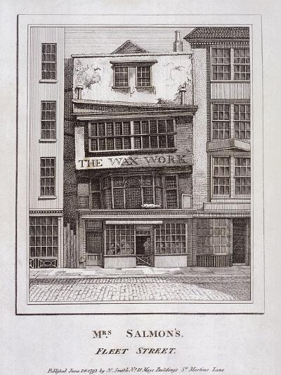 Mrs Salmon's Waxworks in Fleet Street, London, 1793--Giclee Print