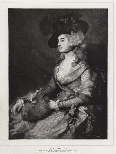 Mrs Siddons-Thomas Gainsborough-Giclee Print