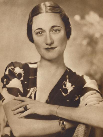 'Mrs Simpson: A Studio Portrait', 1937-Unknown-Photographic Print