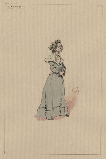 Mrs Snagsby, C.1920s-Joseph Clayton Clarke-Giclee Print
