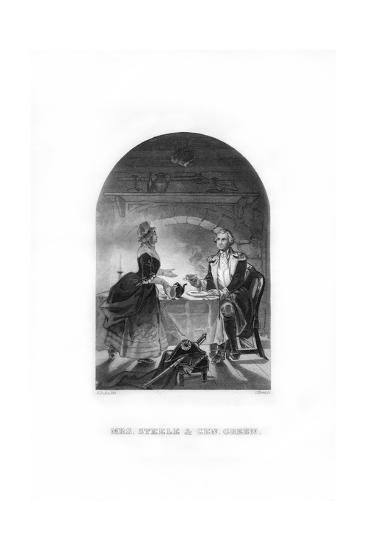 Mrs Steele and General Green, C1770s-C Burt-Giclee Print