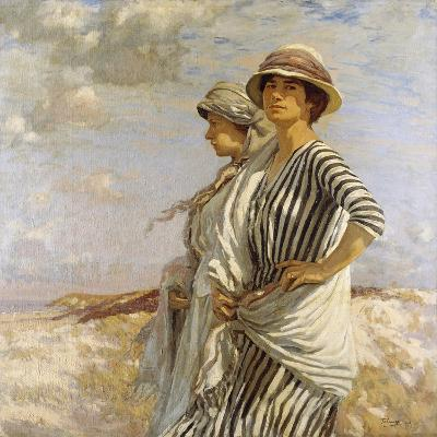 Mrs Talmage and a Friend, 1916-Algernon Mayow Talmage-Giclee Print