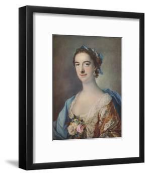 'Mrs Thomas Cripps', 1759-Francis Cotes-Framed Giclee Print