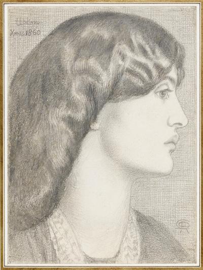 Mrs William Morris, 1860-Dante Gabriel Charles Rossetti-Giclee Print