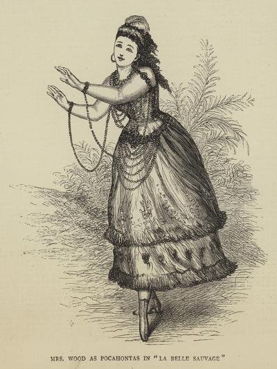 Mrs Wood at Pocahontas in La Belle Sauvage--Giclee Print
