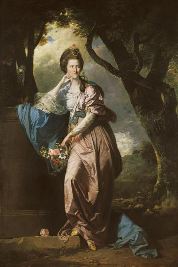 Mrs Woodhull-Johan Zoffany-Giclee Print