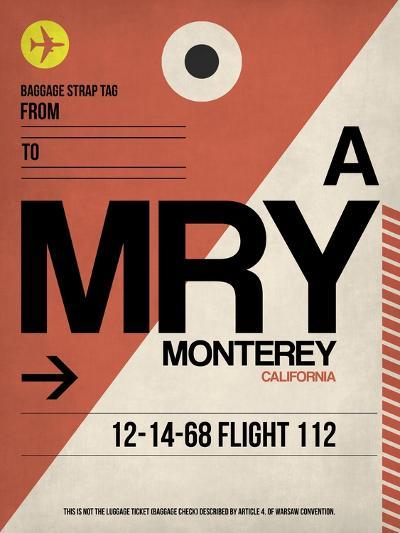 MRY Monterey Luggage Tag I-NaxArt-Art Print