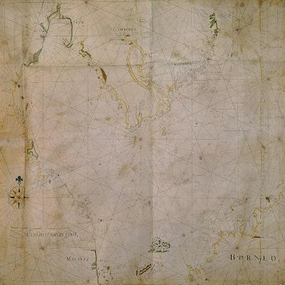 Ms 1288 F.12 Map of Borneo and Siam, 1661--Giclee Print