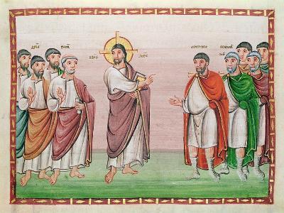 Ms. 24 Jesus and the Captain of Capernaum, from the Codex Egberti, C.980 (Vellum)- Ottonian-Giclee Print