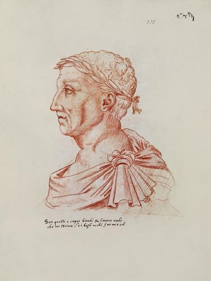 Ms.266 Fol.271 V Petrarch (1304-74), from 'Recueil D'Arras' (Red Chalk on Paper)-Jacques Le Boucq-Giclee Print