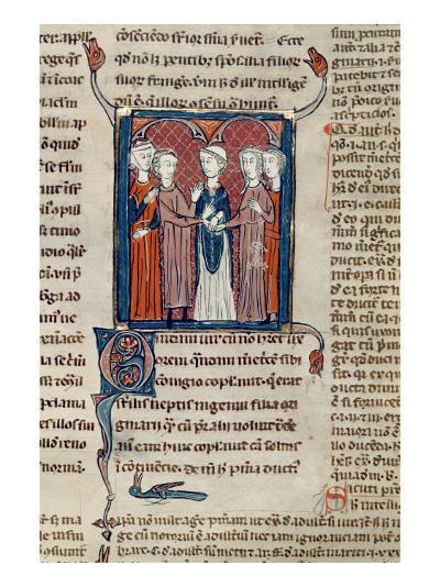 Ms 372 Fol.168 a Marriage Scene, from 'Decrets De Gratien'-French School-Giclee Print
