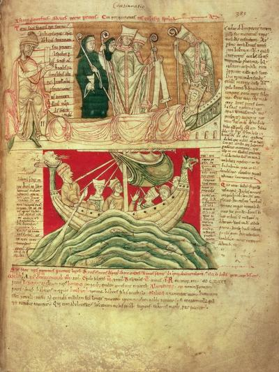 Ms Ccc 157 P.383 the Visions Dreamt by King Henry I in Normandy in 1130, from the Worcester…--Giclee Print