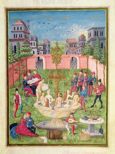 Ms. 'De Sphaera' Fol.11R the Fountain of Youth, 1470-Italian School-Giclee Print