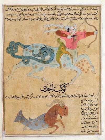 Ms E-7 Fol.29B the Constellations of Sagittarius and Capricorn-Islamic School-Giclee Print