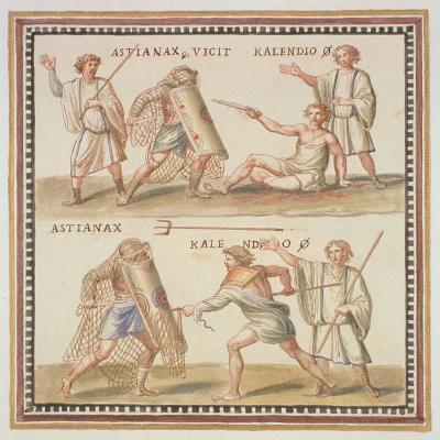 Ms Gen 1496 Plate Cxxiv Gladiators, 1674-Pietro Santi Bartoli-Giclee Print