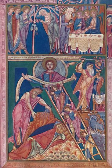 'MS. Illumination Showing the Vision of Jacob', 12th century, (1902)-Unknown-Giclee Print