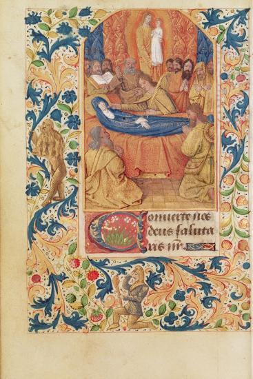 Ms Latin 13305 Fol.88V the Death of the Virgin, from 'Heures a L'Usage De Rome', C.1465-Jean Fouquet-Giclee Print