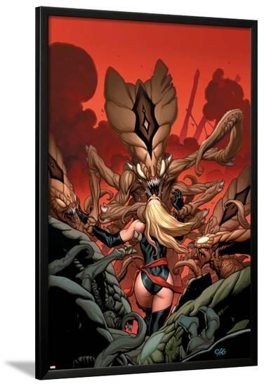 Ms. Marvel No.3 Cover: Ms. Marvel-Frank Cho-Lamina Framed Poster