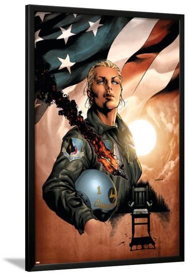 Ms. Marvel No.32 Cover: Danvers and Carol-David Yardin-Lamina Framed Poster