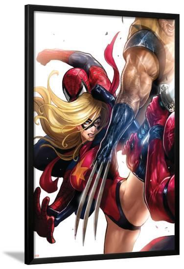 Ms. Marvel No.42 Cover: Ms. Marvel-Sana Takeda-Lamina Framed Poster