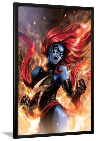 Ms. Marvel No.48 Cover: Mystique-Sana Takeda-Lamina Framed Poster