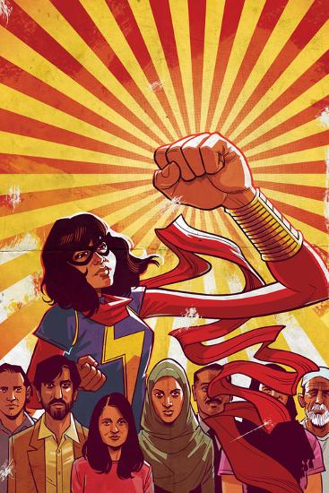 Ms. Marvel No. 8 Cover Art Featuring: Ms. Marvel (Kamala Khan)-Cameron Stewart-Art Print