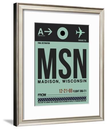 MSN Madison Luggage Tag I-NaxArt-Framed Art Print