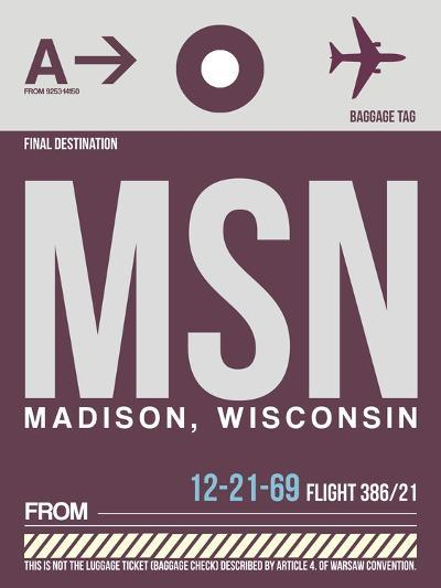 MSN Madison Luggage Tag II-NaxArt-Art Print